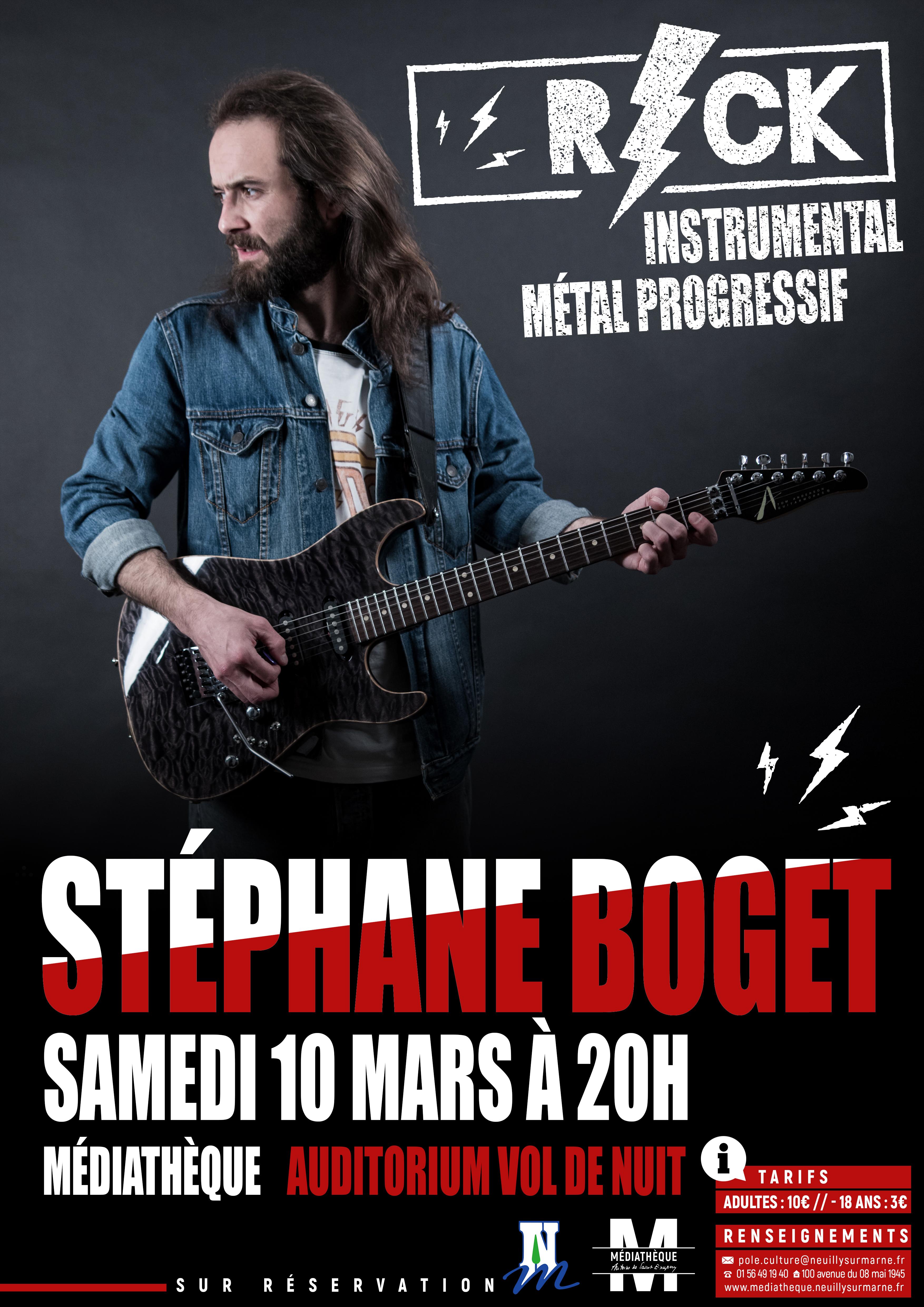 Affiche Concert affiche concert médiathèque | stéphane boget